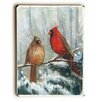 Artehouse LLC Birds on Snowy Branch Wall Décor