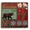 Artehouse LLC Season's Greetings Bear Textual Art