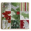 Artehouse LLC Christmas Animals Wrapping Graphic Art Plaque