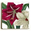 Artehouse LLC Red and White Flowers Graphic Art Plaque