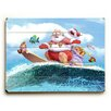 Artehouse LLC Surfing Santa Graphic Art