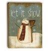 Artehouse LLC Let It Snow Snowman Broom Wooden Wall Décor