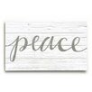 Artehouse LLC Peace on White Wooden Wall Décor