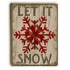 Artehouse LLC Let It Snowflake on Brown Wooden Wall Décor