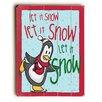 Artehouse LLC Let It Snow Skating Penguin Wooden Wall Décor