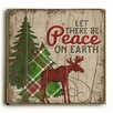 Artehouse LLC Let There Be Peace Reindeer Wooden Wall Décor
