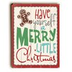 Artehouse LLC Merry Little Christmas Gingerbread Man Wooden Wall Décor
