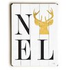 Artehouse LLC Noel Gold Reindeer Wooden Wall Décor