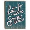 Artehouse LLC Let It Snow Wall Décor