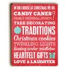 Artehouse LLC Candy Canes Traditions Heartfelt Wooden Wall Décor