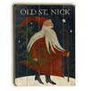 Artehouse LLC Old St. Nick Wooden Graphic Art