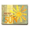 Artehouse LLC 'Here Comes the Sun' by Misty Diller Graphic Art on Plaque