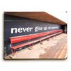 Artehouse LLC 'Never Give Up' by Lisa Weedn Photographic Print on Plaque