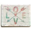 Artehouse LLC 'Love Arrows' by Misty Diller Graphic Art on Plaque