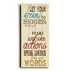 Artehouse LLC Let Your Dreams By Misty Diller Textual Art