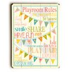 Artehouse LLC Playroom Rules Wooden Wall Plaque