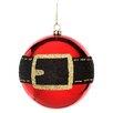 Regency International Shiney Glitter Santa Belt Ball Ornament (Set of 4)
