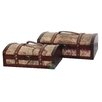 Quickway Imports Old World Map Treasure Chests (Set of 2)