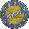 Roger Lascelles Clocks Rivoire Chocolate Wall Clock