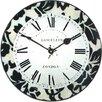 Roger Lascelles Clocks 36cm Modern Damask Wall Clock