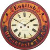 Roger Lascelles Clocks 36cm English Breakfast Tea Wall Clock