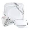 Corelle Simple Sketch 16 Piece Dinnerware Set
