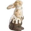 Farm to Table Magnesia Crackle Rabbit Statue - Transpac Garden Statues and Outdoor Accents