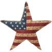 Transpac Imports, Inc Americana Distressed Burlap Star