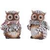 Transpac Imports, Inc Resin Pinecone Owl Figurine (Set of 2)