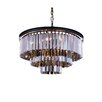 Elegant Lighting Sydney 9 Light Drum Pendant