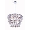 Elegant Lighting Sophia 6 Light Crystal Pendant