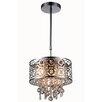 Elegant Lighting Sterling 3 Light Crystal Pendant