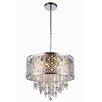 Elegant Lighting Sterling 6 Light Crystal Pendant