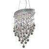 Elegant Lighting Galaxy 3 Light Crystal Chandelier