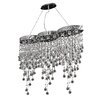 Elegant Lighting Galaxy 9 Light Crystal Chandelier