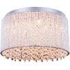 Elegant Lighting Influx 10 Light Flush Mount