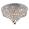 "Elegant Lighting Tranquil 8 Light 11"" Semi Flush Mount"