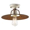 Ferroluce Grunge 1 Light Semi Flush Ceiling Light
