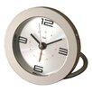 Bai Design Diecast Round Travel Alarm Clock