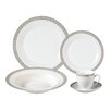 Lorren Home Trends Rosalia 24-Piece Porcelain Dinnerware Set (Set of 24)