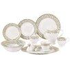 Lorren Home Trends Anabelle 57 Piece Porcelain Dinnerware Set