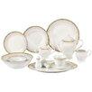Lorren Home Trends Aria Porcelain  57-Piece Dinnerware Set (Set of 57)