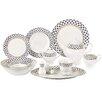 Lorren Home Trends Jeanette 57-Piece Porcelain Dinnerware Set (Set of 57)