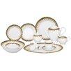 Lorren Home Trends Iris 57 Piece Porcelain Dinnerware Set
