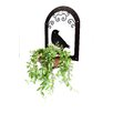 3D Metal Lawn Art Dove Hanging Wall Planter - Color: Rust - Riverstone Industries Corporation Planters