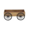 Traditional Wagon Wheelbarrow Planter - Color: Brown - Cole & Grey Planters