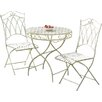 Suntime Gloucester White 3 Piece Bistro Set