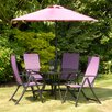 Suntime Havana 4 Seater Dining Set with Parasol