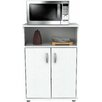 Inval Inval Microwave Cart with Wood Top