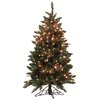 Vickerman 4.5' Frosted Edina Slim Artificial Christmas Tree with Clear Lights
